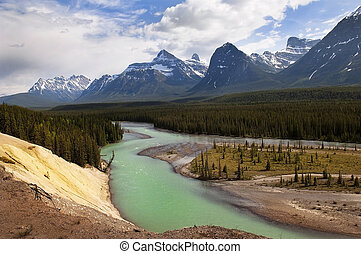 river in Canadian Rockies