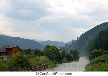 River in Carpathian mountains
