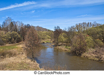 River in early spring.
