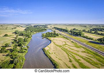 river in Nebarska Sandhills