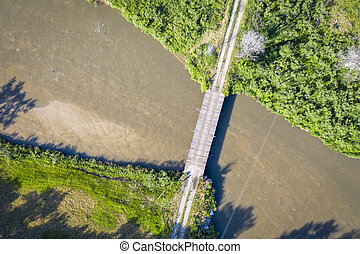 river in Nebraska Sandhills aerial view