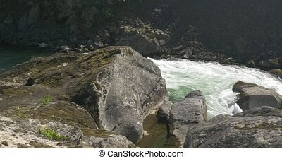 River In Norway - Untouched and stabilized material, watch...