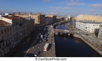 River in Saint-Petersburg city center