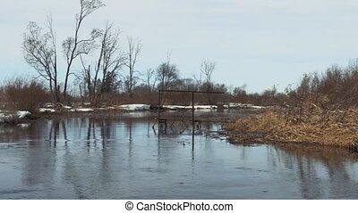 River in spring season.