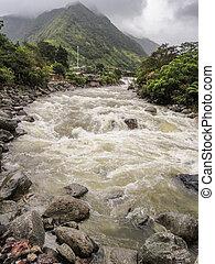 River in the Andes at El Altar Volcano in Ecuador - River ...
