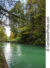 River in the Bavarian Alps, Germany