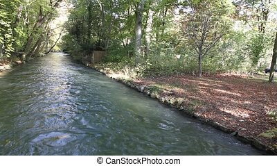 River in the English garden - A small river in the english...
