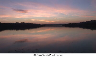 River in the sunrise