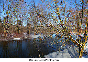 River in the winter time