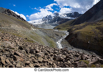 River in Tien Shan mountains