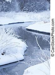 River in winter.