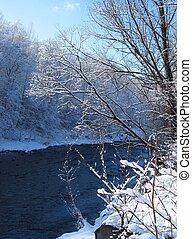 River in winter