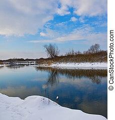 River in winter season
