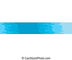 River isolated. Blue clean water stream on white background. Vector illustration