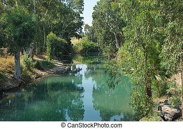 River Jordan near lake Kinneret