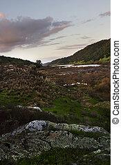 river landscape in the Alentejo region
