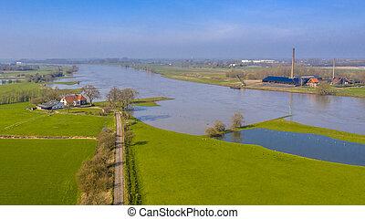 River Lek aerial view