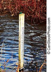 River level marker