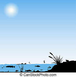 River life illustration