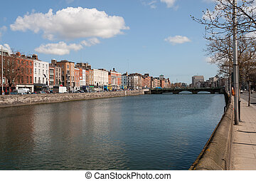 River Liffey in City of Dublin