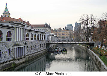 river Ljubljanica in Ljubljana, capital of Slovenia
