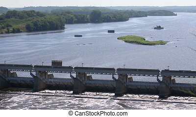 River Lock and Dam (Two Shots)