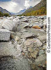 Maggia is a river in Switzerland (Ticino).