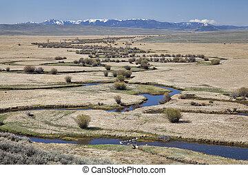 river meanders in North Park, Colorado - Illinois River ...
