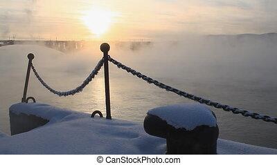 River, mist, 008