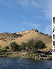 River Nile near Aswan in Egypt, Africa