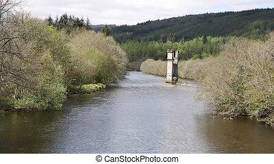 River Oich Fort Augustus Scotland UK Scottish Highlands...