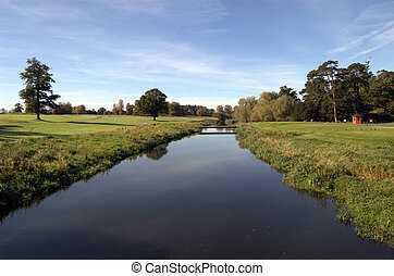 river on a golf course
