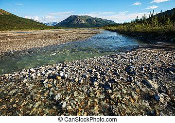 River on Alaska - blue river,Alaska