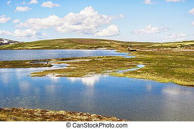 River Orkla and lake Orkel, Norway