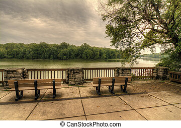 River Overlook - The scenic overlook of the Maumee river at ...