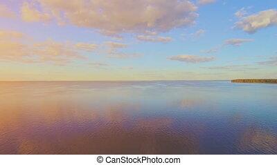 River panorama. 4k 30fps