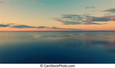 River panorama. 4k 30fps - Aerial Drone Flight Footage: 180...
