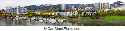 River Place Marina in the Fall Panorama
