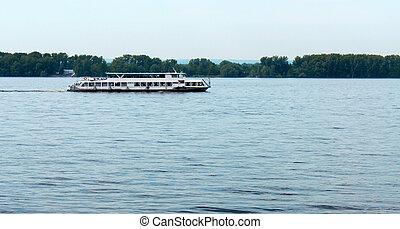 River pleasure boat.