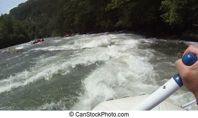 River Rafting: Point of View - white water rafting pov hd...