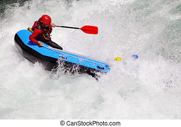River Rafting - White water rafting on a river