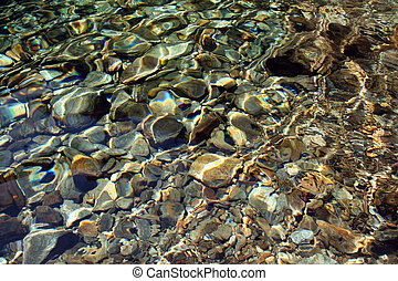 River rocks Background - Background of river rocks, with...