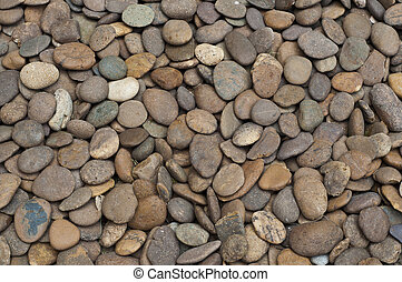 River rocks.