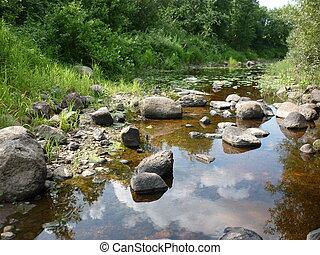 river , rocks