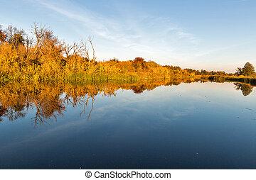 River Ros autumn in Ukraine