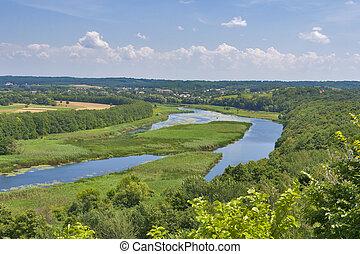 River Ros summer landscape, Ukraine