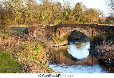 river running under a bridge