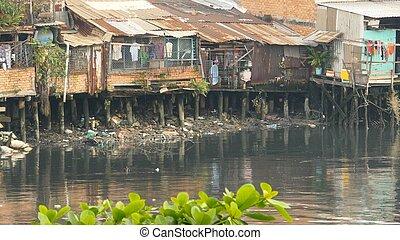 river., saigon., vietnam., barriobajo