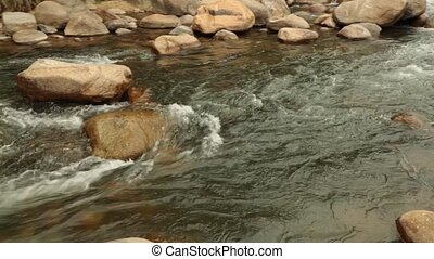 River Scene Panning High Definition Stock Footage - Rugged...