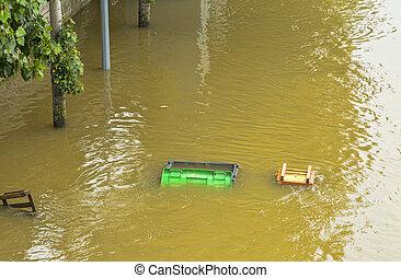 River Seine Flooding in Paris
